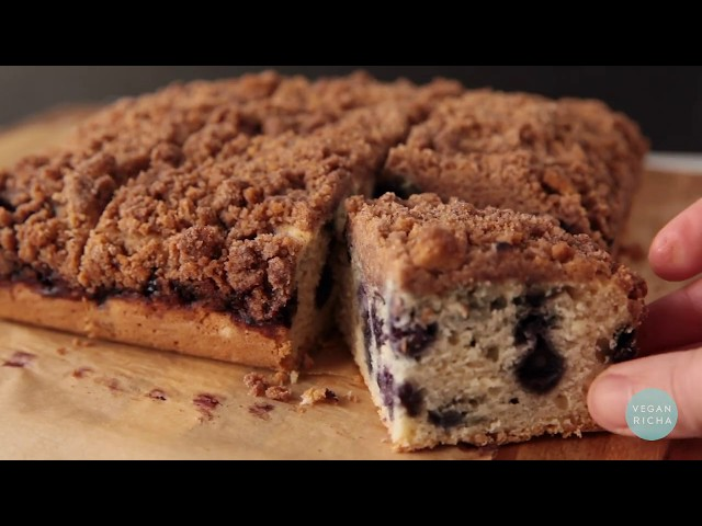 VEGAN BLUEBERRY BUCKLE - Soy Free | Nut Free option | Vegan Richa Recipes