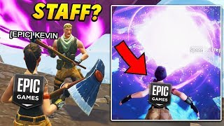 I FAKED being an EPIC GAMES STAFF at THE CUBE EVENT.. (Fortnite Battle Royale)