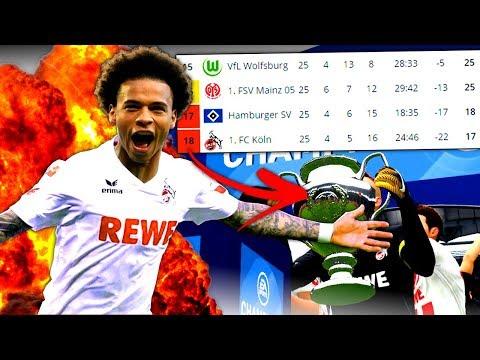 FIFA 18 : VOM LETZTEN PLATZ ZUM CHAMPIONS LEAGUE TITEL !!! 😳🔥 1. FC Köln Sprint To Glory
