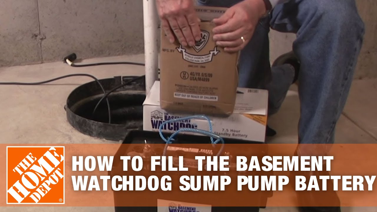 how to fill the basement watchdog sump pump battery the home depot