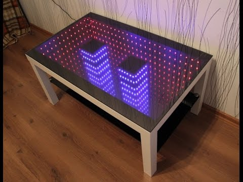 2 infinity mirror table youtube. Black Bedroom Furniture Sets. Home Design Ideas