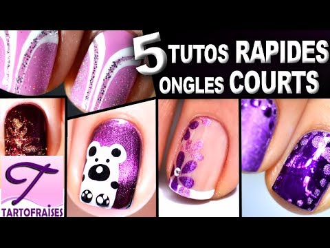 ongles courts 5 tutos nail art faciles au vernis pour d butants youtube. Black Bedroom Furniture Sets. Home Design Ideas