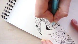 How to draw and shade a mandala/zendala