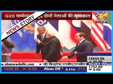 PM Modi meets American President Barack Obama in G-20 summit
