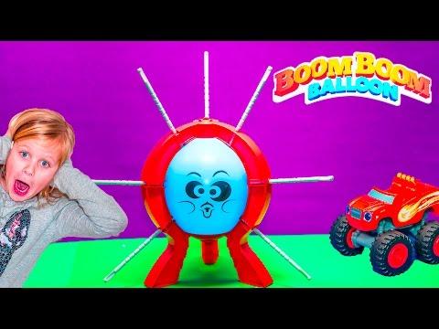 BOOM BOOM BALLOON Game Paw Patrol Challenge Blaze Play Boom Boom Balloon Game Toys Video