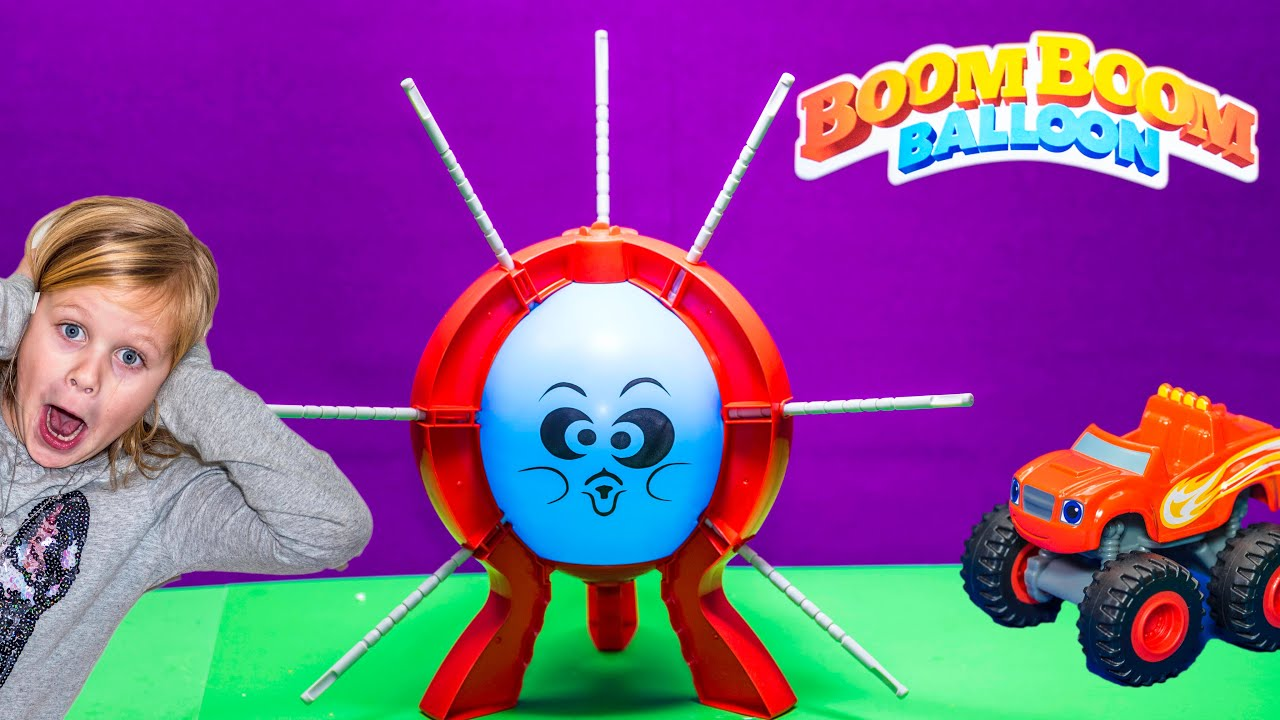 Playing the Boom Boom Balloon Game with Paw Patrol vs Blaze Toys