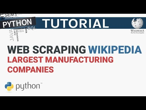 Web Scrape Wikipedia Manufacture Companies Table Into A CSV File | Web Scraping With Python