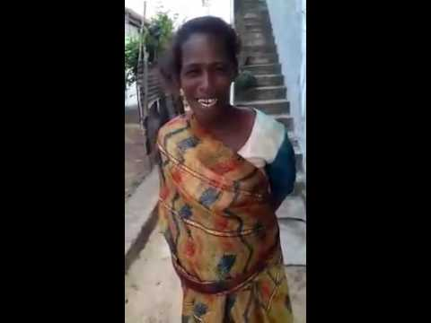 Indian lady singing very funny :-)