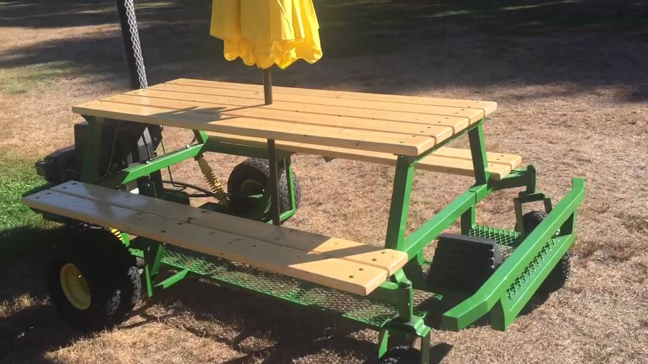My Gas Picnic Table Walk Around YouTube - Motorized picnic table for sale