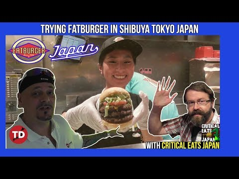 Trying FATBURGER JAPAN  For The 1st Time! W/ Critical Eats Japan