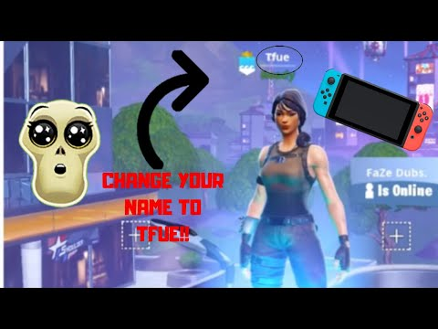 How To Change Your Fortnite Name Into Any Name On Nintendo Switch! + Gameplay