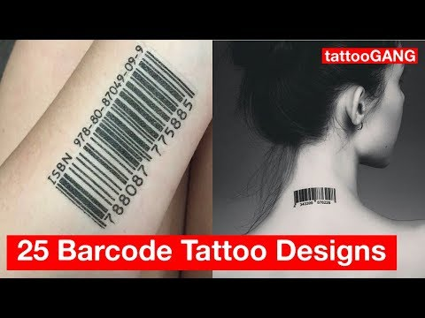 25 Latest Barcode Tattoo Designs Gallery