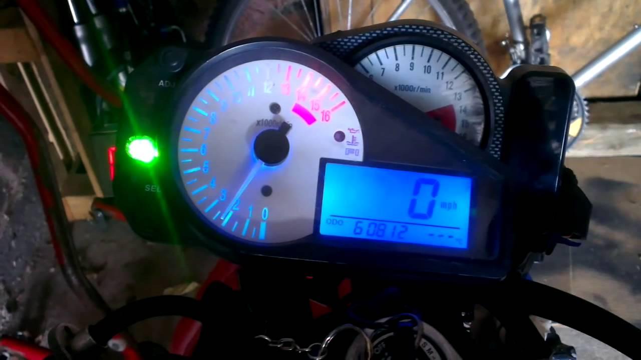 Suzuki Gsxr 750 >> srad to k series dash conversion test - YouTube