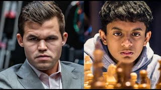 Nihal Sarin beats Magnus Carlsen with sublime positional play | Carlsen vs Challengers event