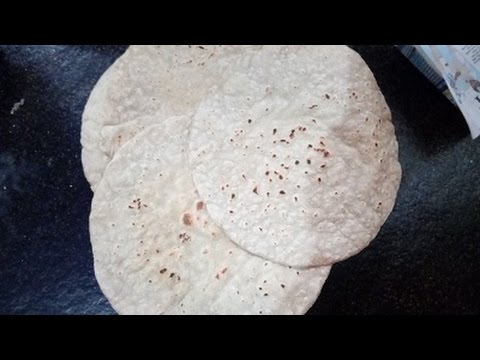 Preparing Jowar roti (Sorghum flat bread) in traditional Rayalaseema style