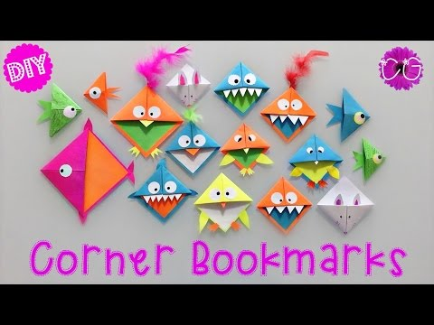 DIY CORNER BOOKMARKS!  EASY & FUN!