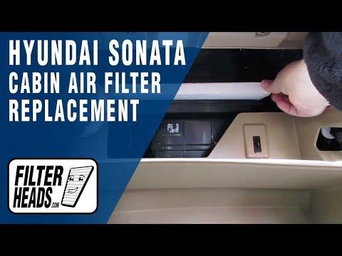 Cabin Air Filter Replacement 2012 Hyundai Sonata Youtube