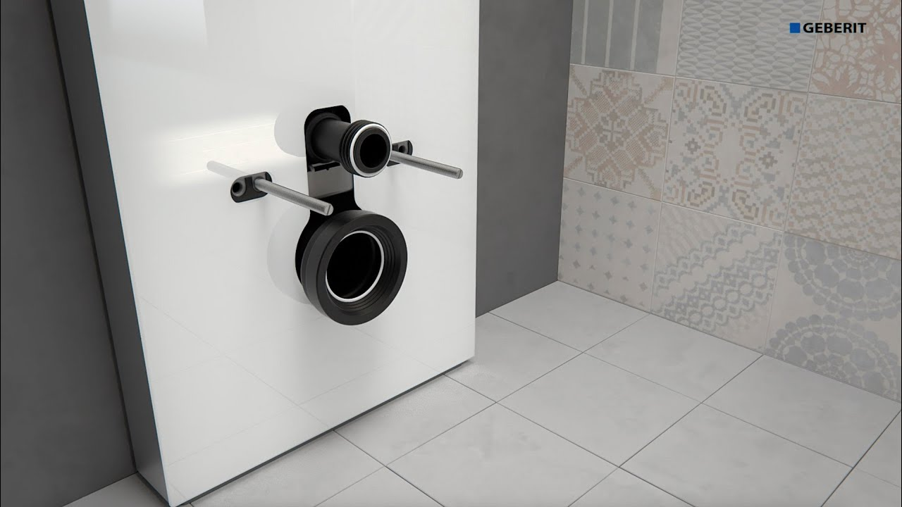 Geberit monolith 2016 wc wall drain installation youtube for Gerberit toilet