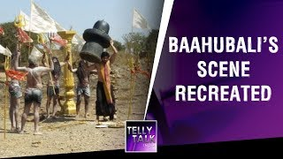 Baahubali's Iconic scene recreated on the sets of Manmohini | Exclusive | Behind The Scenes