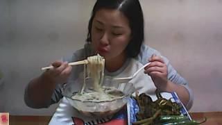 [Chicken soup noodles] 뜨끈한 닭칼국수~먹방