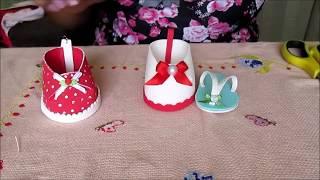 Aprenda à fazer botinha e Chinelinho de eva
