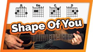 Shape of You Guitar Tutorial (Ed Sheeran)  Easy Chords Guitar Lesson