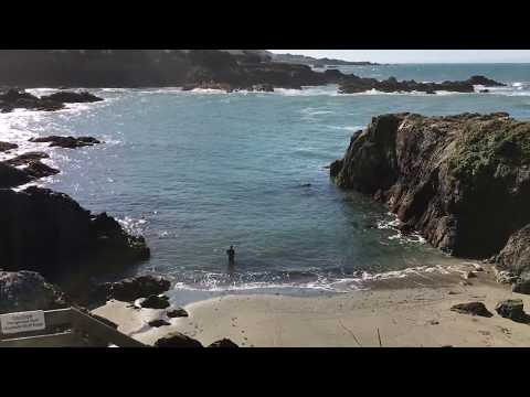 Fly fishing in Smuggler's Cove, The Sea Ranch, Ca