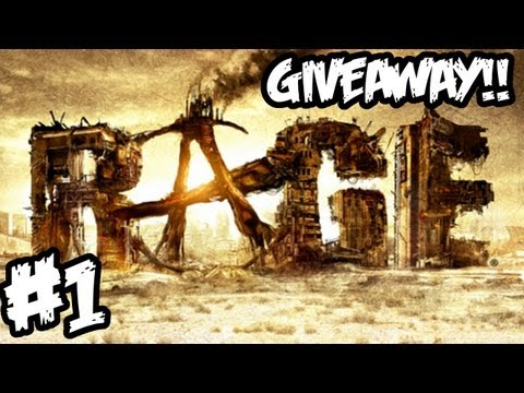 RAGE Walkthrough Part 1 HD - GIVEAWAY!! - Wow This Game Is Amazing! (Xbox 360/PS3/PC Gameplay)