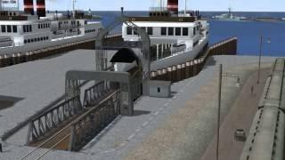 Stadhafen Sassnitz - Ankunft der ersten Fähre