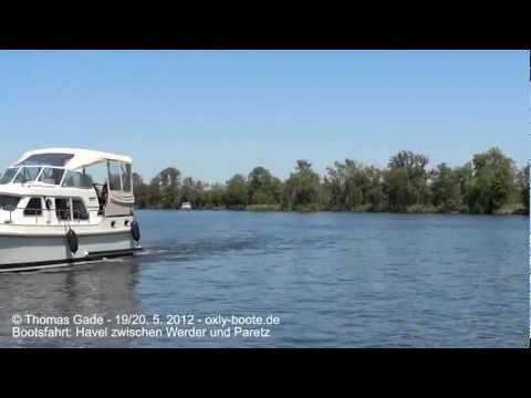 Bootsfahrt auf der Havel. Berlin, Potsdam, Caputh, Werder, Paretz, Sacrow-Paretzer-Kanal