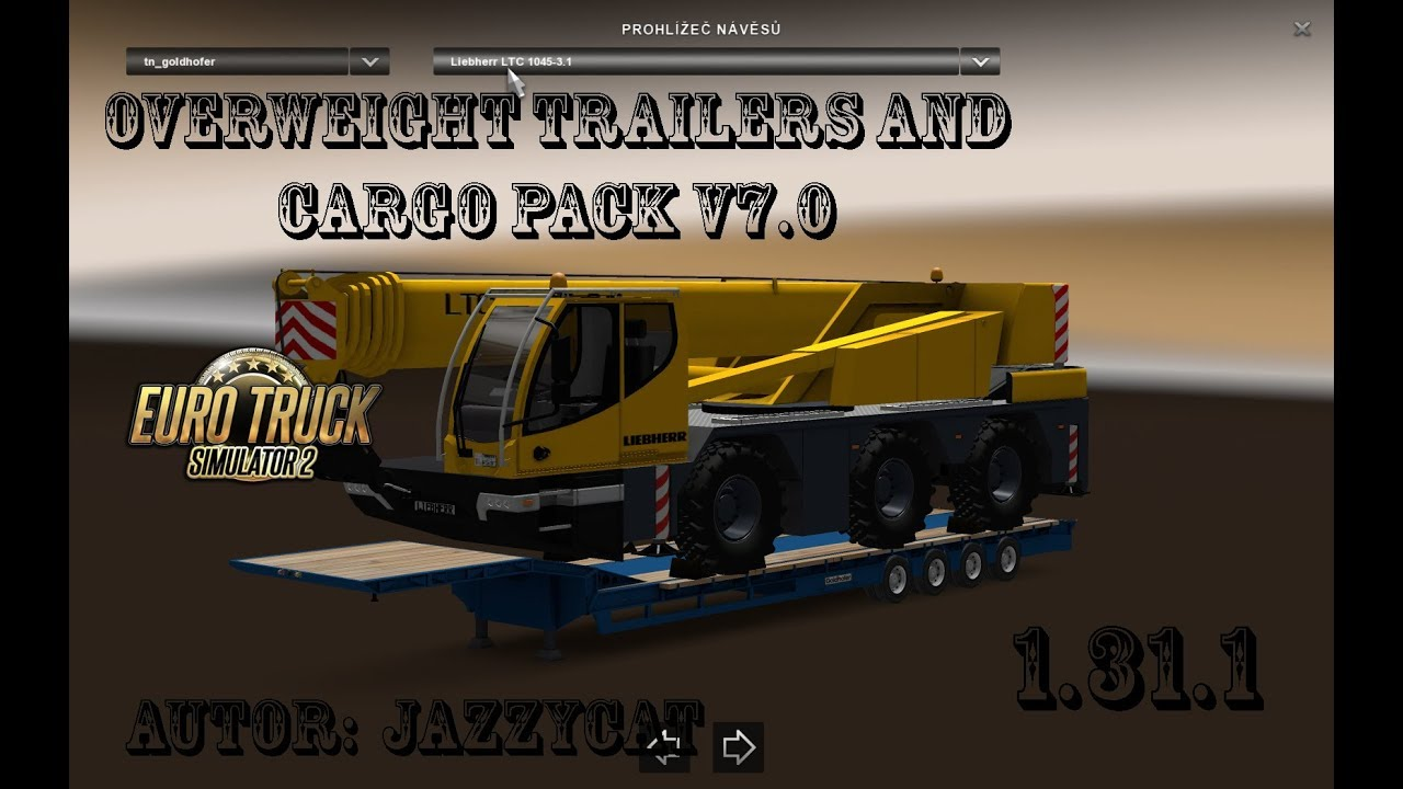ETS2 - 1 31: Overweight Trailers and Cargo Pack by Jazzycat v7 0