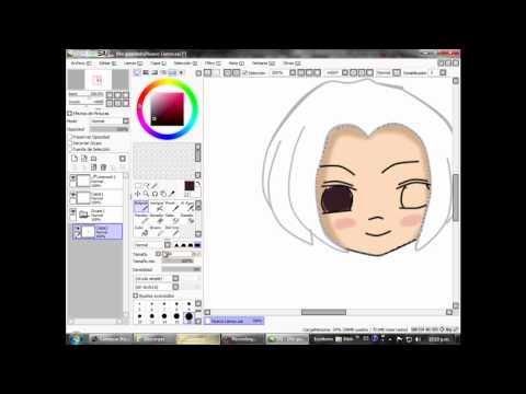 SAI Paint Tool tutorial  Lilium Aqua