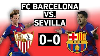A draw hurts barcelona's chances of keeping the la liga trophy, but to call match with sevilla boring is bit unfair. barcelona podcast breaks down ...