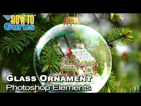 Photoshop Elements Glass Christmas Ornament - Christmas Card Design