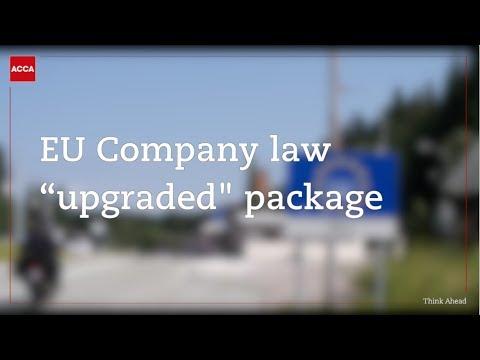 """EU Company Law """"upgraded"""