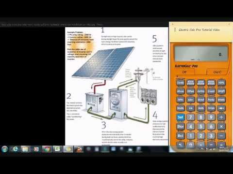 Solar Panel Installations – Cable Sizing and Voltage Drop Calculation of a Solar Panel Installation