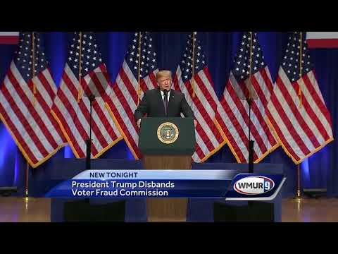 President Trump disbands voter fraud commission