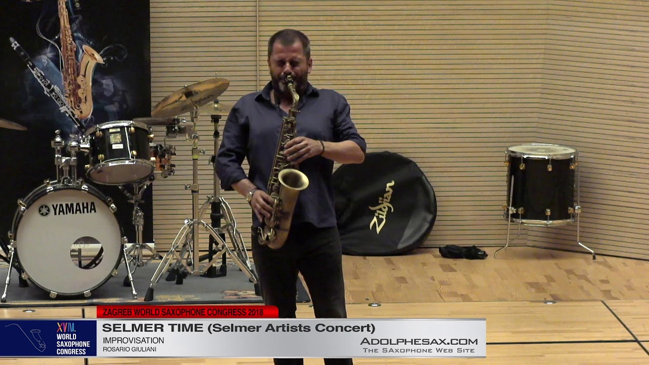 Improvisation by Rosario Giuliani   Rosario Giuliani   XVIII World Sax Congress 2018 #adolphesax