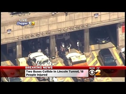 CBS2 Special Report: 18 Hurt After 2 Buses Collide In Lincoln Tunnel