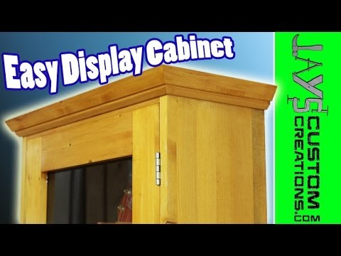Make An Easy Display Cabinet 117 Youtube