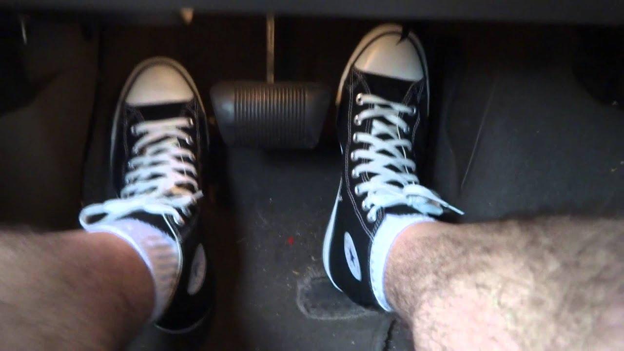 0195edca135 High-Top Chucks Pump Pedals in the Tunnel--Converse All-Stars - YouTube