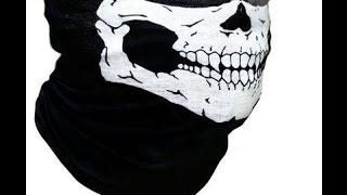 Бандана бафф BF 011 с черепом на лицо