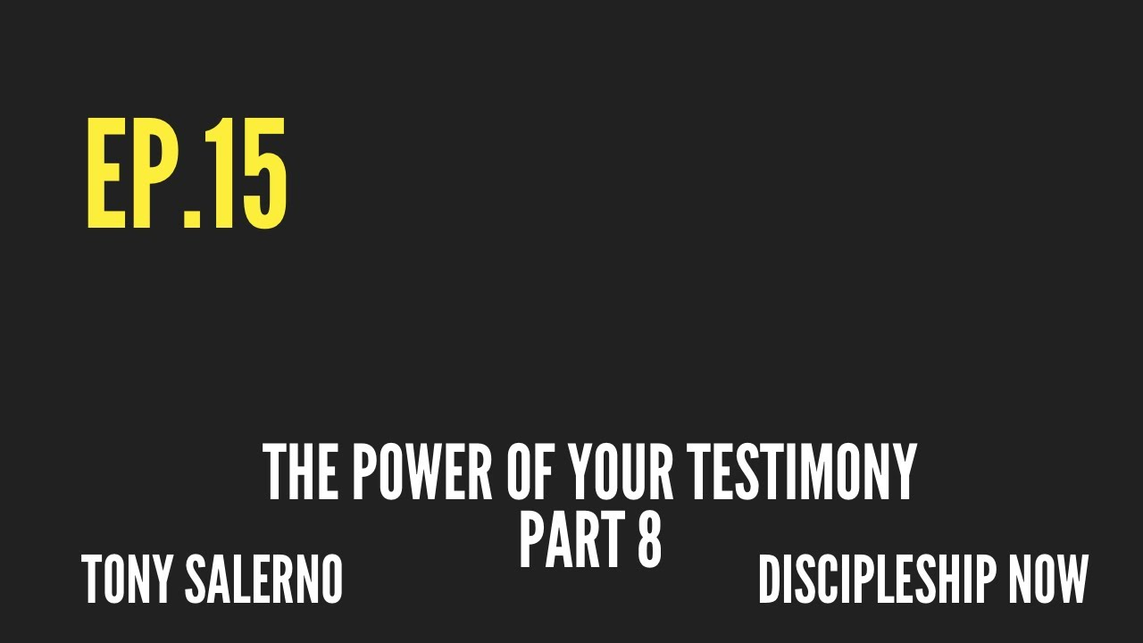 Your testimony has power