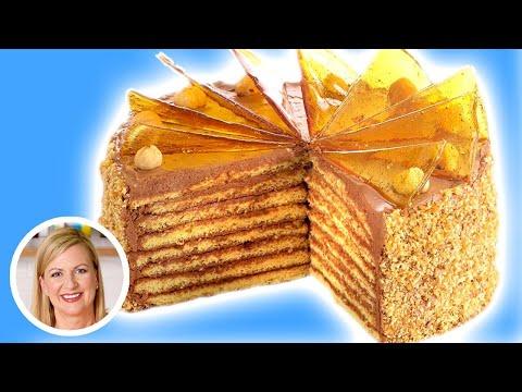 Anna Bakes a SHOWSTOPPING Dobos Torte!