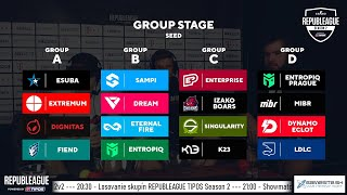 [🇸🇰] REPUBLEAGUE TIPOS Season 2 - Losovanie skupín