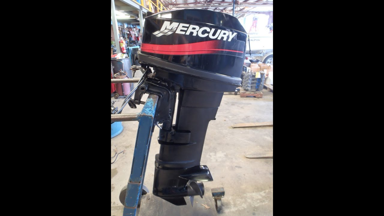 0g378872 used 1996 mercury 25el 25hp 2 stroke remote Two stroke outboard motors