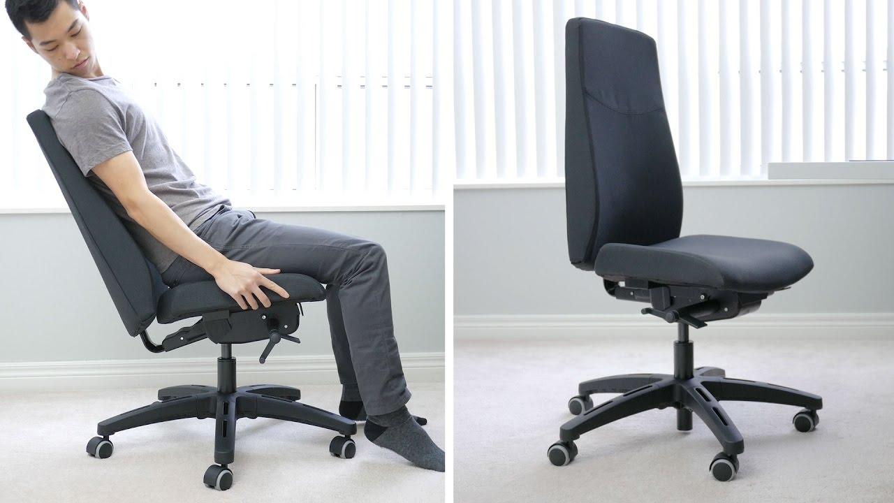 ergonomic chair comfortable purple velvet ikea volmar office like a rock an expensive but youtube