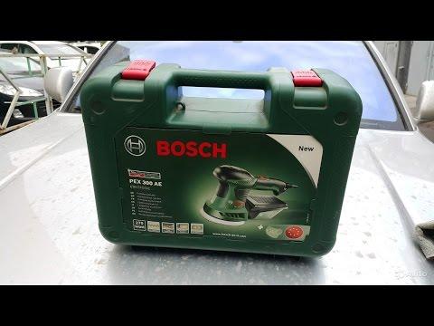 Видео обзор: Шлифмашина эксцентриковая BOSCH PEX 300 AE