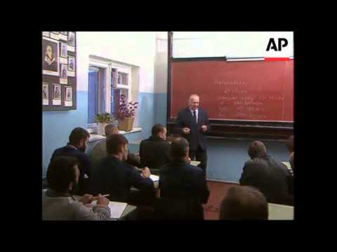 RUSSIA: KALININGRAD: PRISONERS STUDY AT FARMING SCHOOL