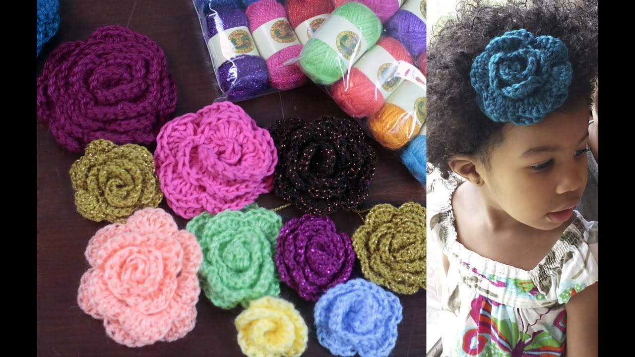 Youtube How To Crochet : How to Crochet a Flower & Yarn GIVEAWAY! - YouTube